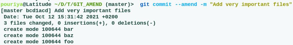 git commit amend  - fix commit message